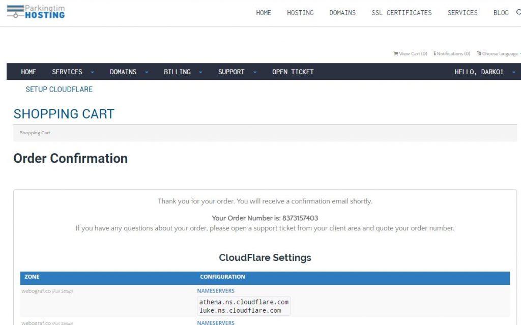 setuup Cloudflare