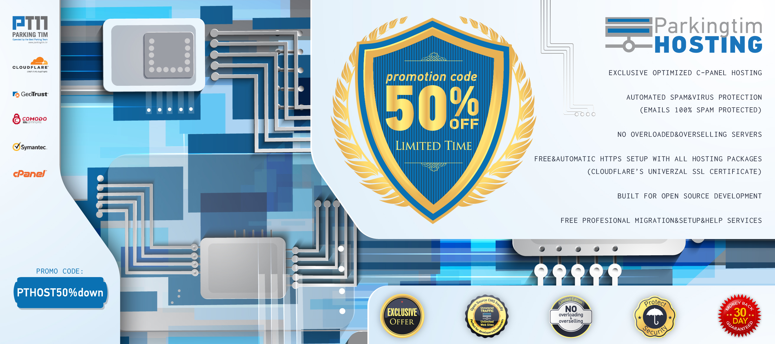 GET Exclusive Coupon Codes 50% Off on all annually hosting plans from Parkingtim-hosting.com